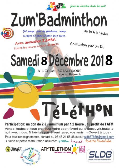 Affiche telethon bad 2018 photo